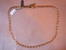 CHAINE PLAQUE OR MAILLE MEDIUM LONG 39 CM 8 G VINTAGE NEUF/NEW GOLD PLATED CHAIN
