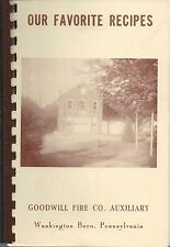 *WASHINGTON BORO PA ANTIQUE *GOODWILL FIRE COMP. AUXILIARY COOK BOOK *LOCAL ADS