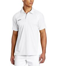 $50 Asics Men's Crop Polo Shirt Short Sleeves Golf / Sport In White Size S