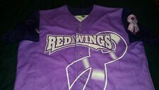rochester red wings purple jersey size 48