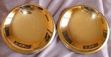 2 Présentoirs tripodes métal doré façon vermeil -  Frise palmettes style Empire