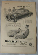 1957 Wolseley Six-Ninety Series II Original advert