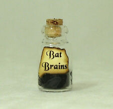 Dollhouse Bat Brains Halloween Magic Brew Potion Bottle Doll House Miniatures