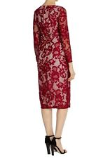 New *COAST* (Size Uk 18) Coralla Lace Dress , Mulberry , Stunning Dress