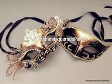 Exquisite Venetian Masquerade Ball Mask Pair couple eye Mask Costume Prom Party