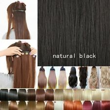 Free Ship SALON FINEST HAIR EXTENTIONS 5 CLIPS IN women favored heat resist
