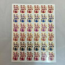STICKER CAT JAPAN VINTAGE AGC SCRAPBOOK DIY CRAFT  PUFFY REWAR MATTE SCENT NE