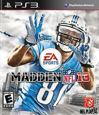 MADDEN NFL 13 w/ Calvin Johnson #81 Cover EA Sports Football PS3 New
