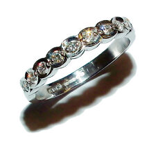 Fully Hallmarked 18ct White Gold & Diamond ½  Eternity Ring (UK Size: J)