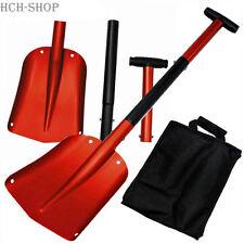 Fox Outdoor Lawinenschaufel Schneeschaufel Aluminium Schaufel 3 tlg+Nylontasche