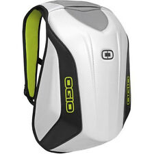 Low Drag Aerodynamic Motorcycle Hardshell Laptop Bag BACKPACK White & Black NEW