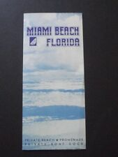 THE TRAYMOR HOTEL, MIAMI BEACH FLORIDA 1940 BROCHURE