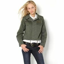 "ACHRO Women's 'US ARMY"" patch Dark Olive Green MILITARY JACKET medium new"