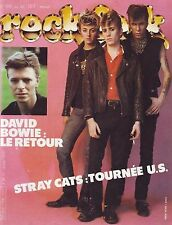 Rock & Folk #196 The Stray Cats, David Bowie, ...