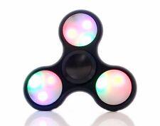 Black LED Light Fidget Tri-Spinner Focus Toys ABS Finger Ball For Kids/Adult SC