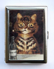 Cats Smoking Cigarette Case Wallet Business Card Holder anthropomorphic