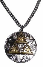 """The Legend Of Zelda TRI FORCE Natural Forces Necklace with 20"""" Chain"""