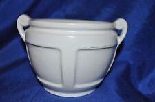 """Roseville Pottery Matt Color Two Handled Planter Bowl  White ca. 1920 4 /2"""" Diam"""