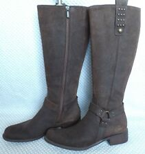 GEOX KNEE HIGH LEATHER BOOTS, SZ 38.5N