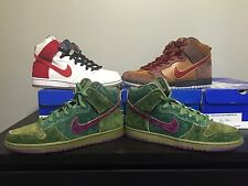 Nike Dunk High SB Smokers Pack Skunk Cigar Cheech and Chong! DS Brand New Size 9