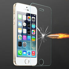 Clear Tempered Glass Screen Protector Film Cover For Apple Iphone 5 5S 1PCS