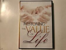 Restoring the Value of Life by Dr. Del Tackett (DVD) New