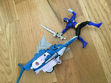 Power Rangers super samurai Blue shark zord and figure