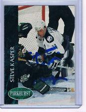92-93 Parkhurst Steve Kasper #403 Tampa Bay Lightning Signed Autographed Card