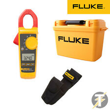 Fluke 324 True RMS Digital Clamp Meter, H3 Holster & C1600 Tool Box Case