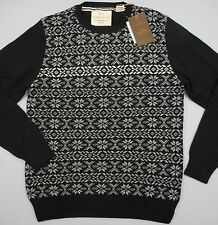 WEATHERPROOF Men's Black Cotton LS Crewneck Sweater (XXL) NEW NWT $75