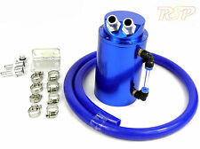 Blue Alloy Oil Catch Tank/Can & Blue Hose Escort Fiesta Mondeo RS Focus Puma