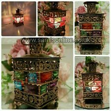 Vintage Ornate Arabian Moroccan Indian Style Lantern Tea Light Candle Holder
