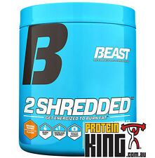 BEAST 2SHREDDED 144G ORANGE MANGO THERMOGENIC POWDER FAT BURNER 2 SHREDDED CUT
