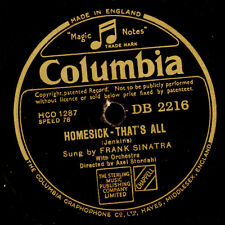FRANK SINATRA  Homesick - that's all / Oh ! Whsat it seemed to be   78rpm  S6433