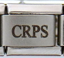 CRPS  Laser Medical Charm for an Italian Charm Bracelets Free Card