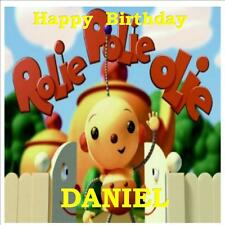 "ROLIE POLIE OLIE SQUARE 7.5"" X7.5"" EDIBLE ICING SHEET BIRTHDAY PARTY CAKE TOPPER"