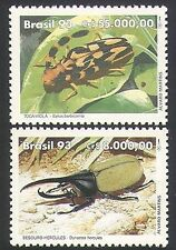 Brazil 1993 Beetles/Insects/Nature/Conservation/Environment 2v set (n34335)