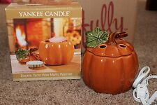Yankee Candle Pumpkin Electric Tart/Wax Melts Warmer~Autumn~NIB