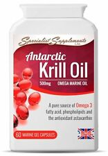 KRILL OIL PURE SUPERBA ANTARCTIC HIGH STRENGTH 60 X 500mg CAPSULES OMEGA 3