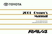 2001 Toyota Rav4 Owners Manual User Guide Reference Operator Book Fuses Fluids