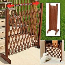 Expanding Wooden Fence Portable Privacy Wooden Screen Safety Child