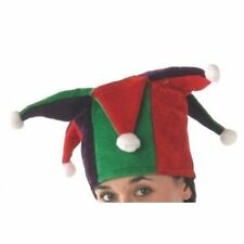 Tudor style court jester hat purple red and green Christmas costume character