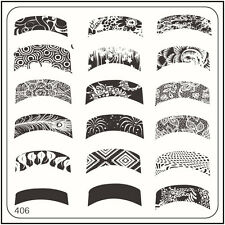 MoYou Nails Square Stamping Image Plate 406