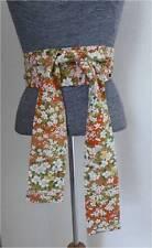 "Handmade Japanese Vintage HANA Flower Silk Kimono KUMI Obi Belt/Scarf/92""L"