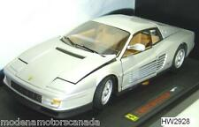 FERRARI TESTAROSSA SILVER by HOT-WHEELS ELITE EDITION 1:18 BRAND NEW IN BOX