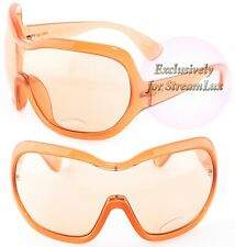 PRADA ILLUSION Women Sunglasses PR 05OS GAC-9N1 Shield Oversized Antique Pink