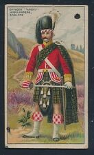 1910 T81 Recruit Little Cigars MILITARY SERIES -Officer Argyll (England) DieCut