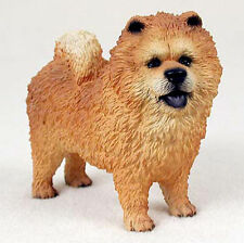 Chow Chow Hand Painted Collectible Dog Figurine Statue Red
