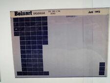 Yamaha XV 250_L_1994 Microfilm Catalogue des pièces Pièce rechange Liste