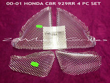 2000 00 HONDA CBR929RR 4 PC CHROME FAIRING GRILLS SCREENS TANK PAD EXHAUST LEVER